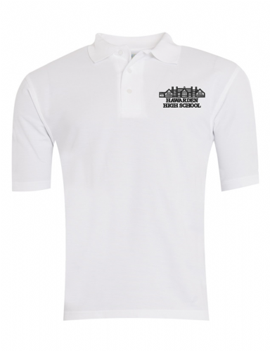Hawarden High White P.E Polo